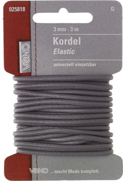 Elastic-Kordel 3 mm grau