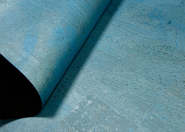 Korkstoff blau, ca. 70x50 cm