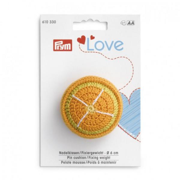 Prym Love Nadelkissen / Fixiergewicht Orange