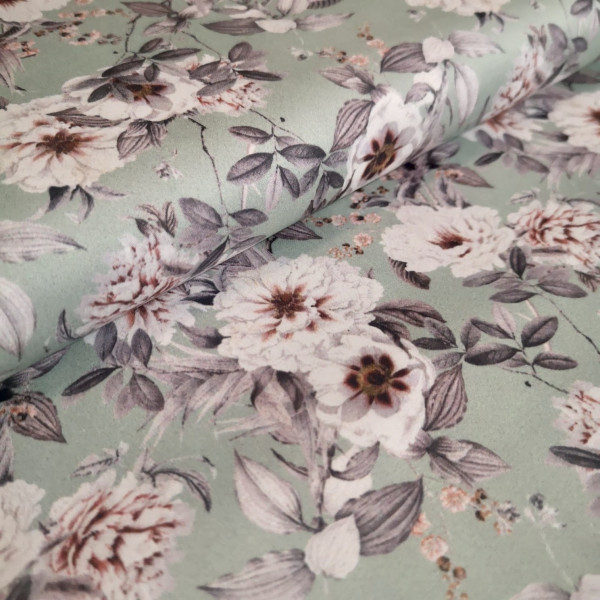 Baumwoll Satin Floral