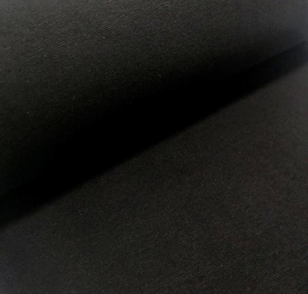 Bündchenstoff Feinstrick schwarz