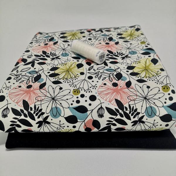"Stoffpaket Damen ""floral"": Basicshirt, Gr. 46-58"