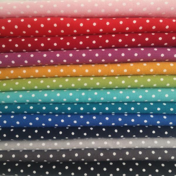 Baumwolljersey Tupfen 3mm in 13 Farben