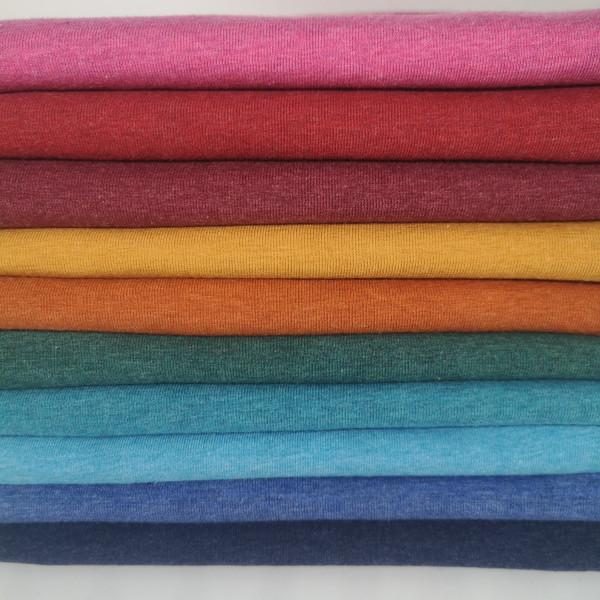 Baumwolljersey Melange Swafing in 10 Farben