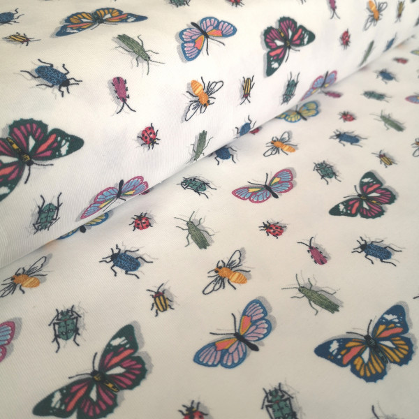 Baumwolljersey Insekten