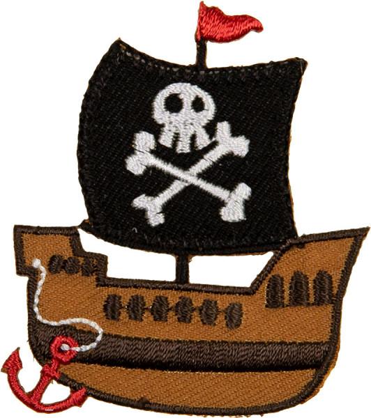 Applikation Piratenschiff schwarz