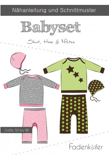 Schnittmuster Babyset Gr. 50-98