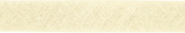 Baumwoll-Schrägband gefalzt 40/20 hellbeige