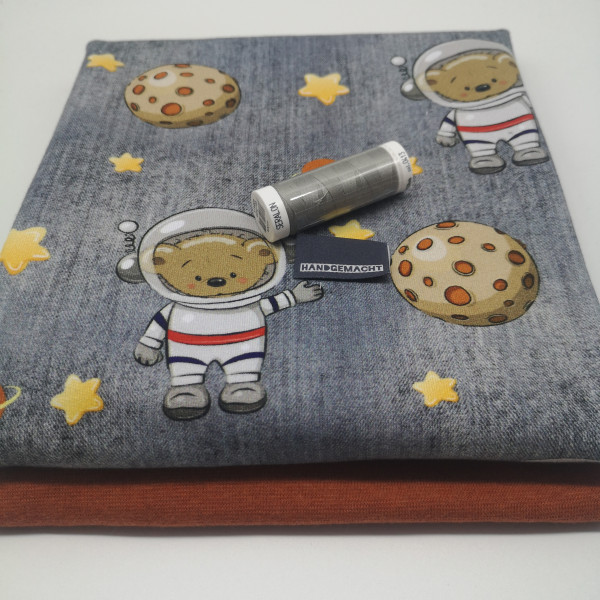 "Stoffpaket Babys ""Weltraum-Teddy"": Pumphose, Gr. 50-92"