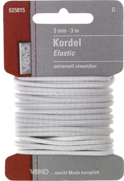 Elastic-Kordel 3 mm weiß