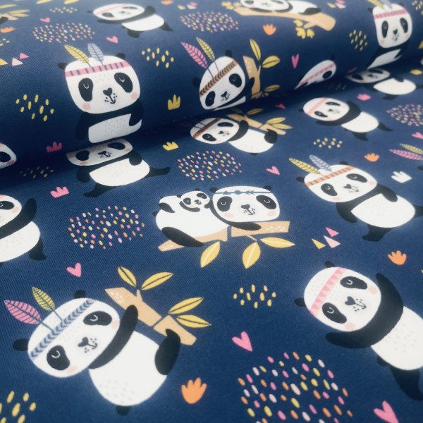 Baumwolljersey Pandabär
