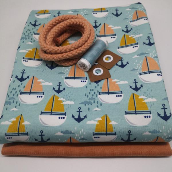 """Stoffpaket Kinder """"Segelboot"""": Pumphose, Gr. 98-164"""