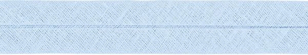 Baumwoll-Schrägband gefalzt 40/20 hellblau