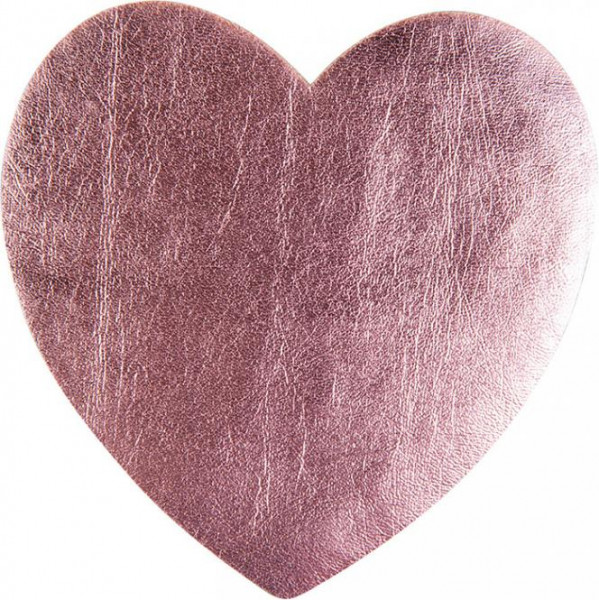 Applikation Herz rosa metallic