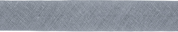 Baumwoll-Schrägband gefalzt 40/20 hellgrau
