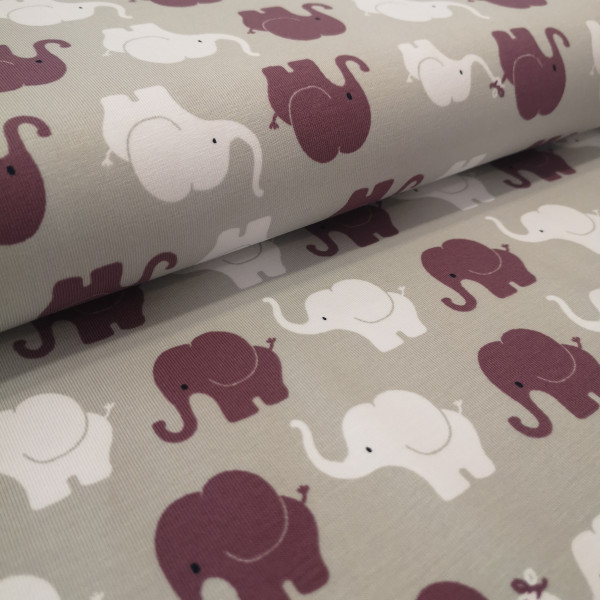 Baumwolljersey Elefantenparade