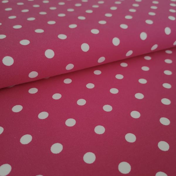 Baumwolljersey Punkte pink