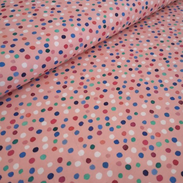 Baumwolljersey Konfetti rosa