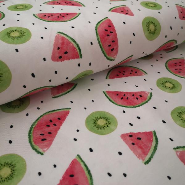 Baumwolljersey Melone & Kiwi