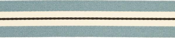 Band 25 mm blau-weiß gestreift