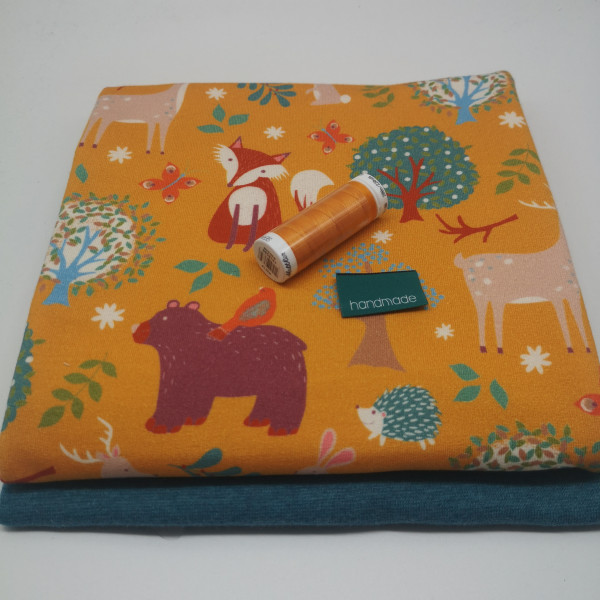 "Stoffpaket Babys ""Waldtiere"": Pumphose, Gr. 50-92"