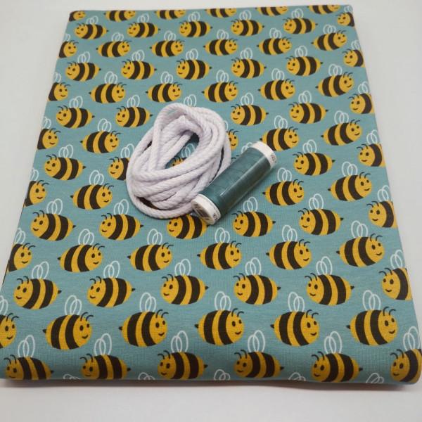 """Stoffpaket Kinder """"Bienen"""": Schwalbenshirt, Gr. 80-128"""