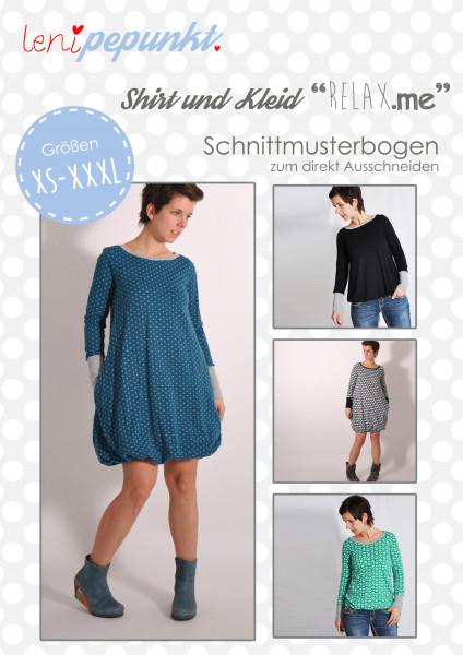 Schnittmuster Shirt+Kleid RELAX.ME Damen Gr. XS-XXXL