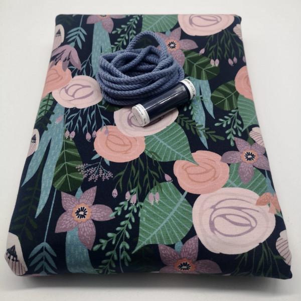 """Stoffpaket Damen """"floral"""": Schwalbenshirt, Gr. 32-48"""