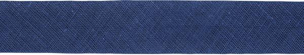 Baumwoll-Schrägband gefalzt 40/20 marineblau