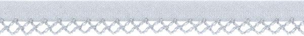 Schrägband Häkelkante 12 mm hellgrau