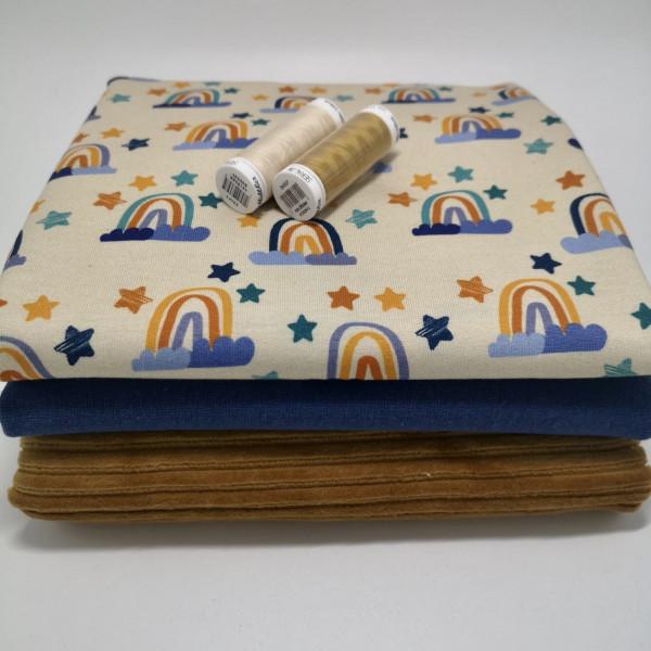 """Stoffpaket """"Regenbogen"""": Babyset, Gr. 50-98"""