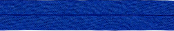 Baumwoll-Schrägband gefalzt 40/20 blau
