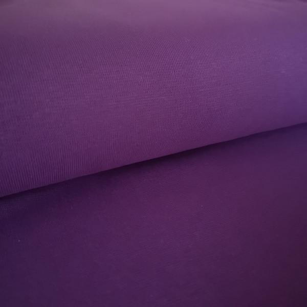 Bündchenstoff Feinstrick lila