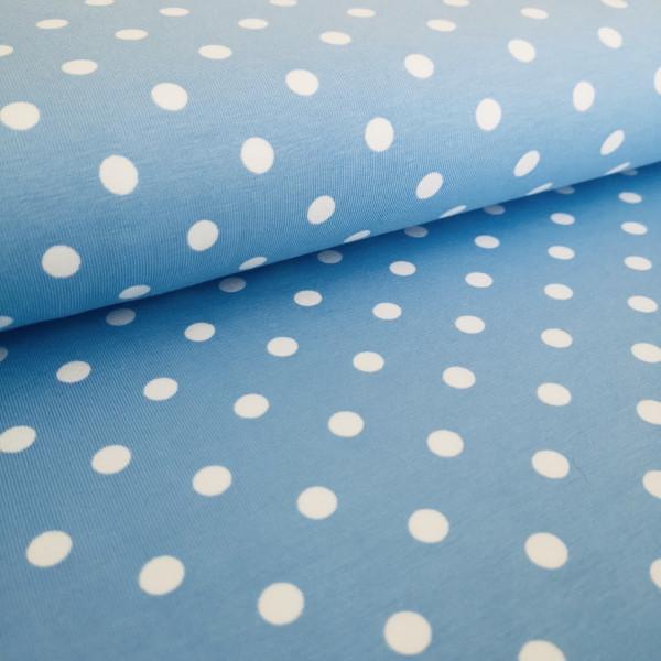 Baumwolljersey Punkte hellblau