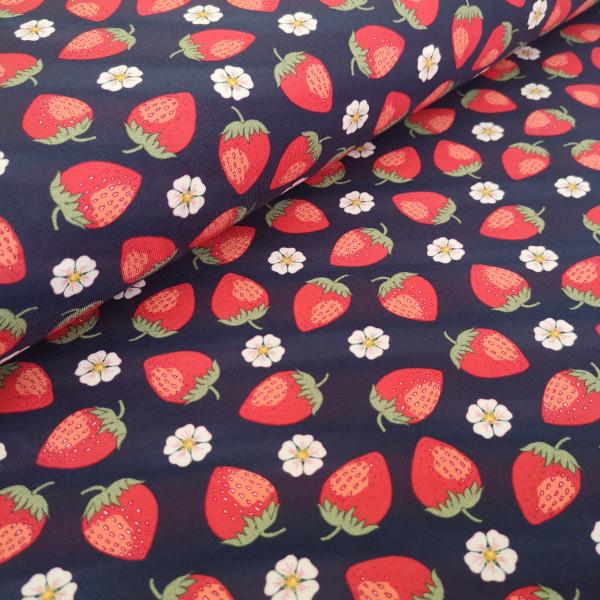 Baumwolljersey Erdbeeren