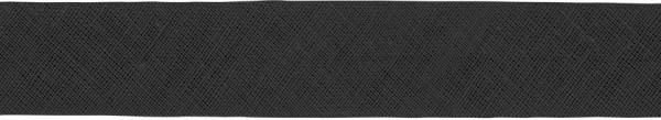 Baumwoll-Schrägband gefalzt 40/20 schwarz