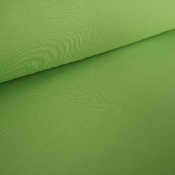 Baumwolljersey Uni apfelgrün