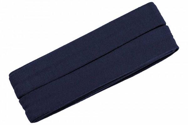 Jersey-Schrägband 20 mm marineblau