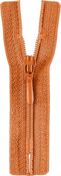 Reißverschluss Tropfenschieber 30-60 cm nicht teilbar orange