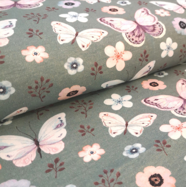 Baumwolljersey Schmetterling