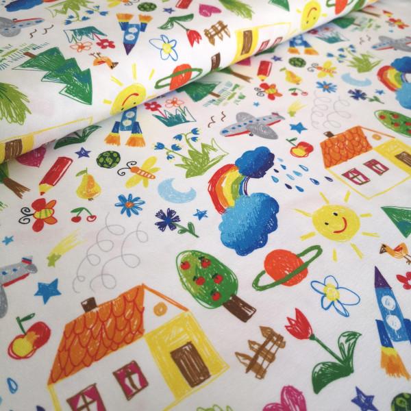 Baumwolljersey Kindermalerei