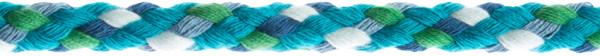 Flechtkordel 8 mm multicolor-türkis