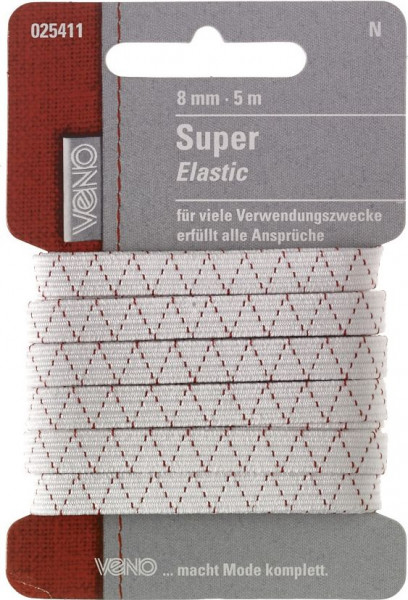 Super-Elastic 8 mm weiß