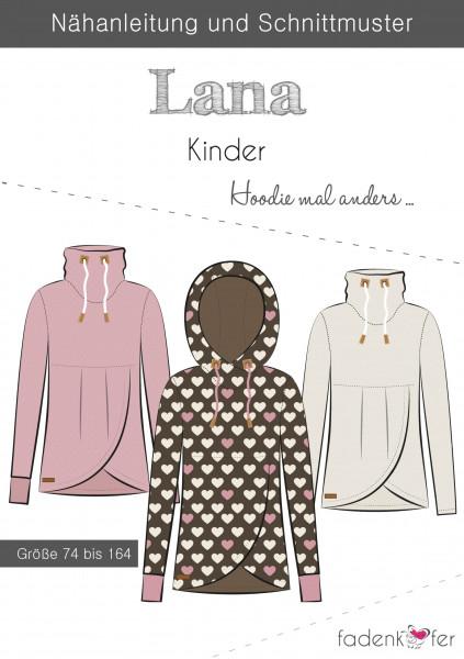 Schnittmuster Hoodie Lana Kinder Gr. 74-164