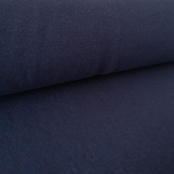 Bündchenstoff Feinstrick dunkelblau