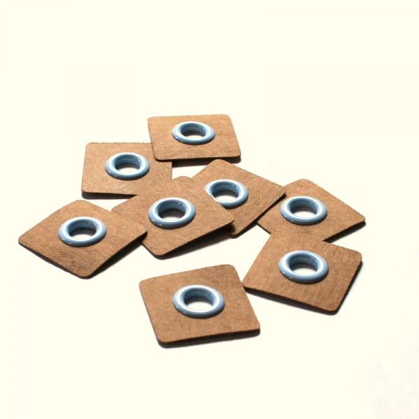 4 Aufnähösen SnapPap 8 mm hellblau