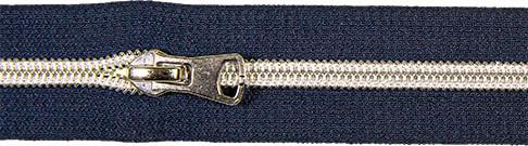 Spiralreißverschluss inkl. Schieber marine blau