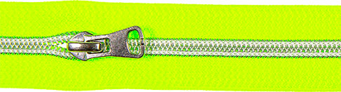 Spiralreißverschluss inkl. Schieber neon grün