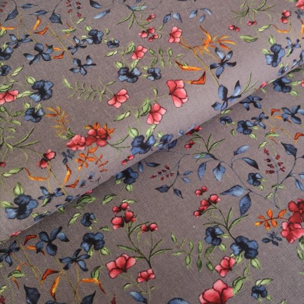 Viskose Leinen floral