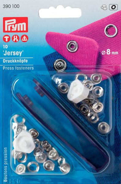Druckknöpfe Jersey 8 mm silberfarben